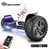 EverCross 8.5' Scooter Patinete del Mano Eléctrico Bluetooth App Self Balancing (Purple)