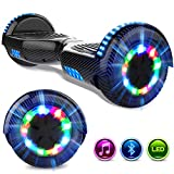 GeekMe Gyropod 6.5 Pulgadas Scooter Eléctrico Board Hover Certificado UL 2272 Certificado Bluetooth Incorporado Lámparas LED Colorido Intermitentes Wheels