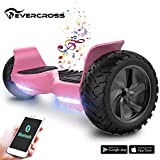 EverCross 8.5' Scooter Patinete del Mano Eléctrico Bluetooth App Self Balancing (Pink)
